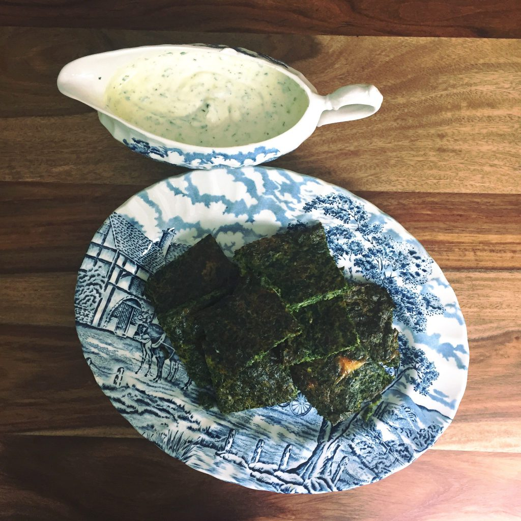 oven spinach greenies