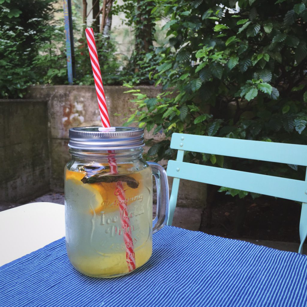 infused water with orange lemon