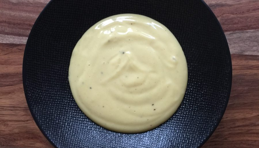 Homemade Mayonnaise with Pepper, Lemon, Truffle Oil