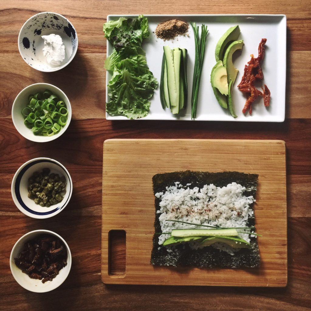 vegan maki rolls ingredients